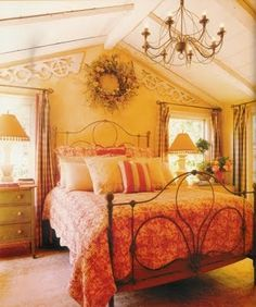 Country Bedroom Style... #home #decor #bedroom