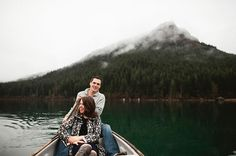 Engagement Photos with a Canoe: for spring pics- we have a canoe and a rowboat.  Not sure about riding in the canoe with you, though.  ;)