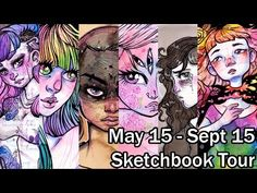May 15 - Sept 15 Sketchbook Tour - YouTube