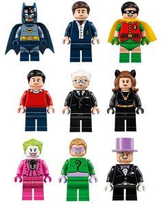 Classic Batman Batcave 76052 Minifigs #LEGO #Batman