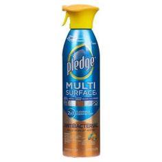 Pledge Multi Surface II 2 in 1 Cleaner - Spray - fl oz - 6 / Carton - Clear