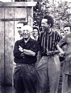 Wifredo Lam and Pablo Picasso, Vallauris, 1954