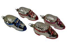 Shoe Christmas Ornaments, S/4