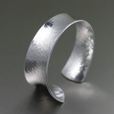 New! Hammered Anticlastic Aluminum Bangle Bracelet   - Silver Bracelets - Aluminum Jewelry for Women - 10th Anniversary Gifts by johnsbrana https://www.etsy.com/listing/252298840/hammered-anticlastic-aluminum-bangle?ref=rss