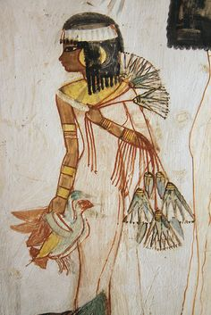 Wall Painting From Tomb #69  --  Luxor, Egypt