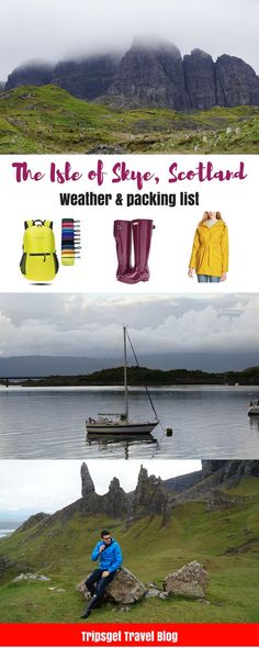 Isle of Skye weather - what to pack for the Isle of Skye trip. Isle of Skye, Scotland packing list.