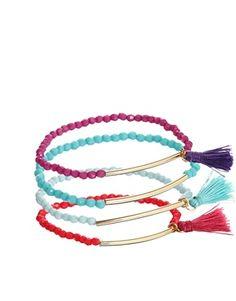 ASOS Rainbow Tassel Bracelet Pack $19.35