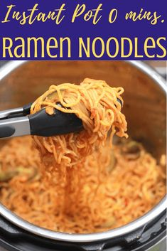 Instant Pot Ramen Noodles – Oh so addictive! An easy weeknight, family dinner, packed with colorful veggies, plant-based protein, Thai flavors and ready in 15 minutes from start to end. Yes please!!! Sharing our secret to the perfectly cooked noodles. No mushy noodles. No mush veggies.  No-burn!  This Instant Pot Thai Vegan Ramen Noodle recipe (video included) is a must try.  Stove Top recipe included. Superfood Recipes, Healthy Eating Recipes, Delicious Vegan Recipes, Lunch Recipes, Crockpot Recipes, Vegetarian Recipes, Amazing Recipes, Thai Vegan, Vegan Ramen