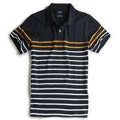 CAMISA PÓLO LISTRADA MARINHO MOSTARDA - Taco Camisa Polo Listrada b8007a39fb0