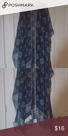 Kimono, navy blue and floral This is a new kimono,.Navy blue with floral. One size fits all. no name Sweaters Cardigans
