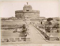 Engelenburcht (Castel Sant' Angelo) in Rome, Italië, ca. 1890. Het mausoleum van keizer Hadrianus, gebouwd ca. 130 na Chr. Datum 1885 Locatie Rome