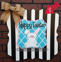 SWITCHABLE SPARKLE: Easter Bunny Sign by SparkledWhimsy on Etsy