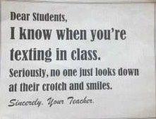 You crazy textpots.
