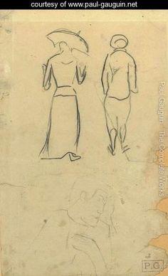 Etudes de personnages - Paul Gauguin - www.paul-gauguin.net