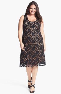 Karen Kane Lace Tank Dress (Plus Size) | Nordstrom - sizes 0X to 3X (true to size)