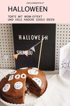 Geburtstag im Herbst, Halloween oder Oktober-Brunch - diese BOO-Torte  mit WOW-Effekt schmeckt und ist super einfach zum Nachbacken!