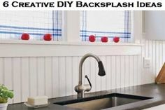 (Source) Backsplashes do not have to be expensive to be beautiful. There are a lot of options when it comes to a backsplash and you can Do It Yourself to cut down on cost. Beadboard Beadboard Panels can be used as a backsplash and it …