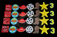 Ideas Toys Story Cookies Decorating Supplies For 2019 Cowboy Birthday Party, Birthday Parties, Kid Parties, 4th Birthday, Birthday Ideas, Toy Story Cupcakes, Toy Story Cookies, Toy Story Party, Toy Story Birthday