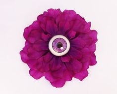 creepy purple eyeball hair flowerhalloween day.Halloween hair pin