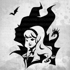 Disney Princess Silhouettes svg file Disney Princess Clip
