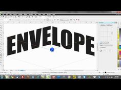 corel draw text effects training tutorials: envelopes - YouTube