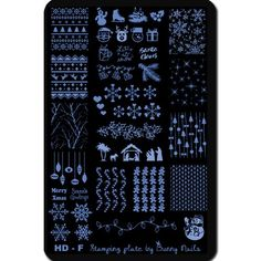 HD-F Nail Art Stamp Plate - this one has the cable sweater image!