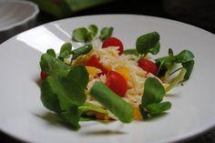 Salada de Risoni com agrião