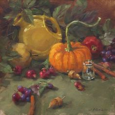 Karen Werner  Fine Art: Fall Color -a still life painting in oil