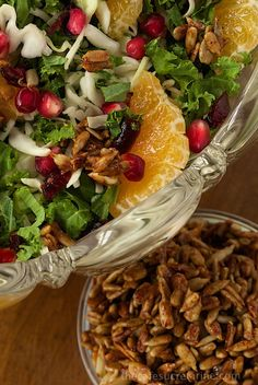 Kale and Clementine Salad - Fresh, vibrant, healthy and super delicious! A seasonal salad with tricks to convert even the most ardent kale critics into big time fans!