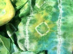 Silk charmeuse shibori  scarf