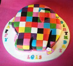 Elmer the Elephant Cake
