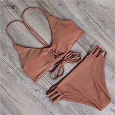 Womens Removable Padded Bikini Floral Printing Bottom Swimsuit Summer Swimwear Bathing Suit Bikini Set maillot de bain Biquini