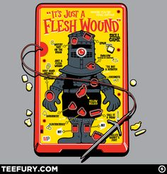 Flesh Wound Operation game/Monty Python and the Holy Grail mashup Operation Game, Monty Python, Thats The Way, Geek Out, Cool T Shirts, Nerdy Shirts, Make Me Smile, I Laughed, Geek Stuff