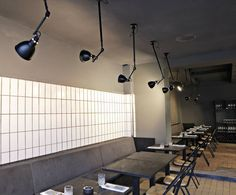 Kul restaurant, CPH using Lampe Gras lamps and Surpil Chairs Photo: Bjørn Bertheussen