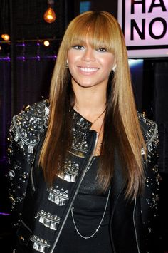 Beyonce Knowles Hairstyles: Long Straight Hairstyle with Blunt Bangs - PoPular Haircuts - - Top Hairstyles, Black Girls Hairstyles, Straight Hairstyles, Beyonce Hairstyles, Natural Hair Styles, Long Hair Styles, Popular Haircuts, Beyonce Knowles, Love Hair