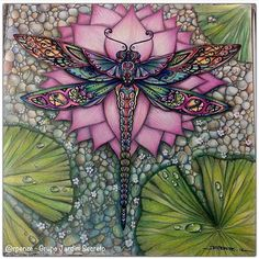 Fabulous Drawing On Creativity Ideas. Captivating Drawing On Creativity Ideas. Dragonfly Art, Dragonfly Tattoo, Adult Coloring, Coloring Books, Coloring Pages, Colored Pencils, Illustration, Fantasy Art, Art Projects