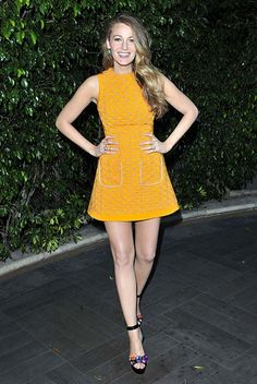 New mum Blake Lively is a ray of sunshine for night out in David Koma
