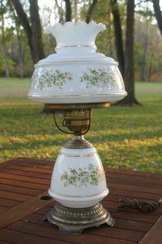 Quoizel SL702G Satin Lace Hurricane Lamp Electric Antique ...