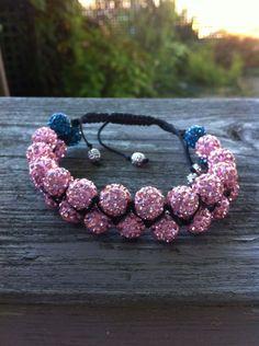 Double shamballa bracelet by CoraleeGifts on Etsy