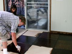ply wood flooring ideas | How to Install a Plywood Floor Tiles : Decorating : Home & Garden ...