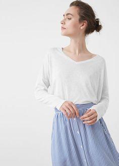 Mango Outlet Fine-knit t-shirt edca0043ab09c