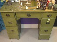 Repurposed Green Desk - $65