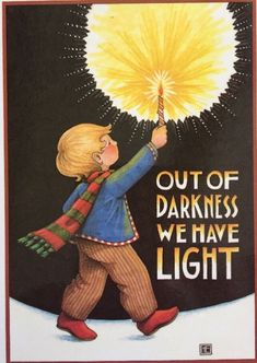 Out Of Darkness-Large Handmade Magnet-Mary Engelbreit Artwork Mary Christmas, Light Of Christ, Cute Notebooks, Mary Engelbreit, Mellow Yellow, Young Boys, Childrens Books, Watercolor Art, Clip Art
