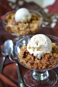 Pumpkin Spice Dump Cake with Simple Cinnamon Ice Cream. dude.