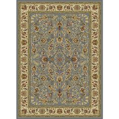 Bliss Rugs Litzy Traditional Area Rug, Blue