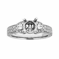 Natalie K 14k White Gold & Diamonds Engagement Ring