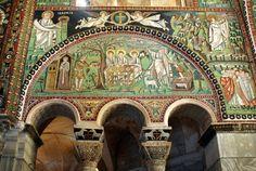 Basilica di San Vitale, mosaico dell'area presbiteriale sinistra.