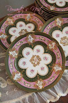 Rare beauty !! Limoges France plates