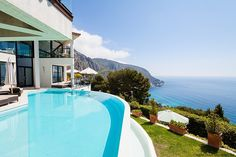 Luxurious seaside residence situated at the French Riviera close to Monaco.