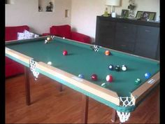 Home made pool table, first test - YouTube